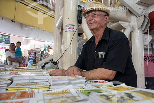 Barraca do cordelista Jesus Sinedaux no Mercado Central de Fortaleza  - Fortaleza - Ceará (CE) - Brasil