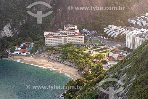 Vista da Praia Vermelha a partir do mirante do Pão de Açúcar  - Rio de Janeiro - Rio de Janeiro (RJ) - Brasil