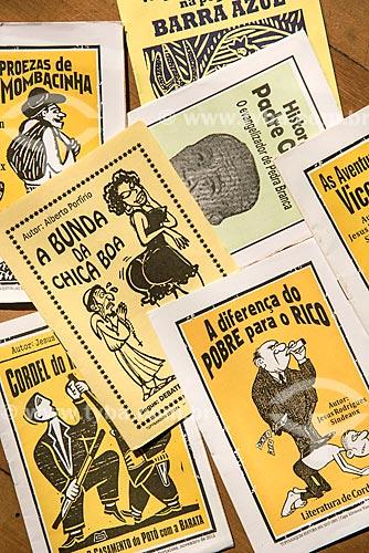 Literatura de cordel à venda no Mercado Central de Fortaleza  - Fortaleza - Ceará (CE) - Brasil