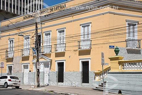 Fachada da Academia Cearense de Letras (ACL) - 1894 - antiga sede do Governo do Estado do Ceará  - Fortaleza - Ceará (CE) - Brasil