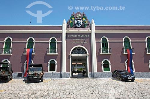 Fachada da sede da 10ª Região Militar do Exército Brasileiro - parte da antiga Fortaleza de Nossa Senhora da Assunção (1860)  - Fortaleza - Ceará (CE) - Brasil