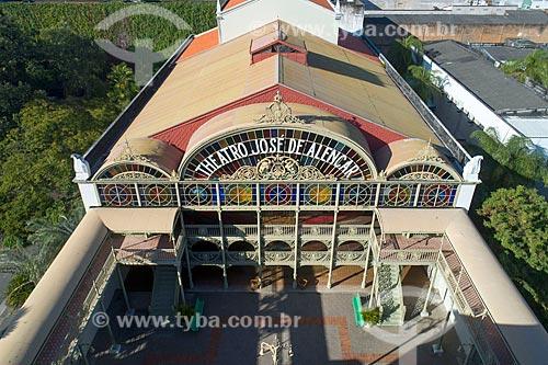 Foto feita com drone da fachada interna do Teatro José de Alencar (1910)  - Fortaleza - Ceará (CE) - Brasil