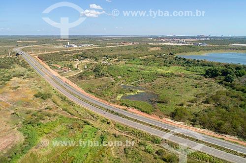 Foto feita com drone de trecho da Rodovia CE-065  - Caucaia - Ceará (CE) - Brasil