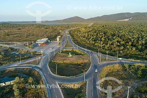 Foto feita com drone da rotatória entre as rodovias CE-065 e CE-421  - Caucaia - Ceará (CE) - Brasil
