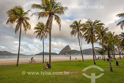 Orla da Praia do Flamengo com o Pão de Açúcar ao fundo  - Rio de Janeiro - Rio de Janeiro (RJ) - Brasil
