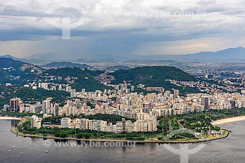 Foto aérea do Aterro do Flamengo durante sobrevoo à cidade do Rio de Janeiro  - Rio de Janeiro - Rio de Janeiro (RJ) - Brasil