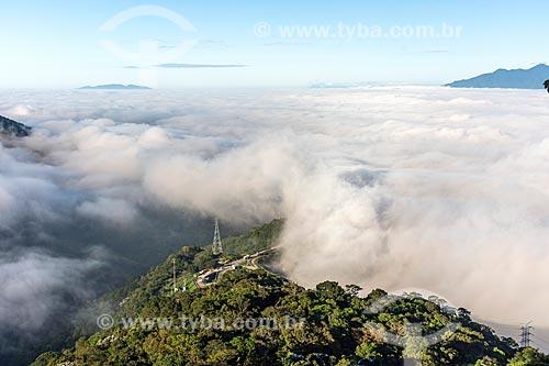 Vista a partir do Mirante do Cristo - no km 85 da Rodovia Washington Luís (BR-040)  - Petrópolis - Rio de Janeiro (RJ) - Brasil