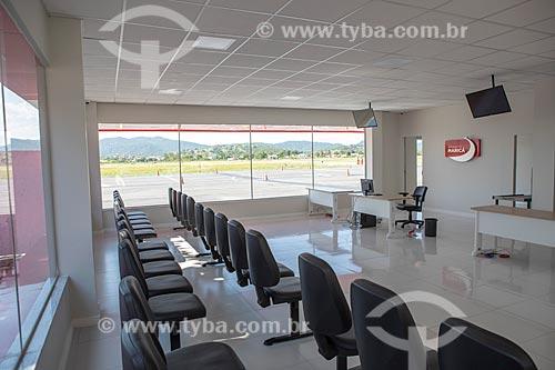 Área de embarque do Aeroporto Laélio Baptista - mais conhecido como Aeroporto de Maricá  - Maricá - Rio de Janeiro (RJ) - Brasil