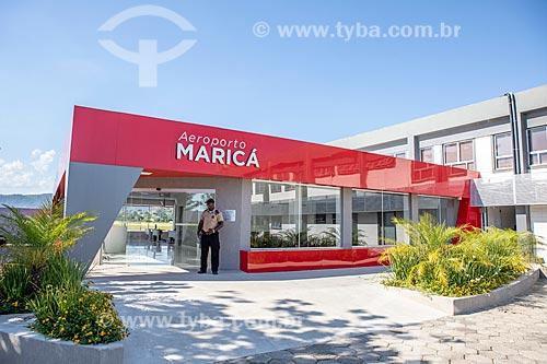 Fachada do Aeroporto Laélio Baptista - mais conhecido como Aeroporto de Maricá  - Maricá - Rio de Janeiro (RJ) - Brasil