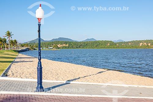 Vista da Orla Zé Garoto (2018) na Lagoa da Barra de Maricá - também conhecida como Lagoa do Boqueirão  - Maricá - Rio de Janeiro (RJ) - Brasil