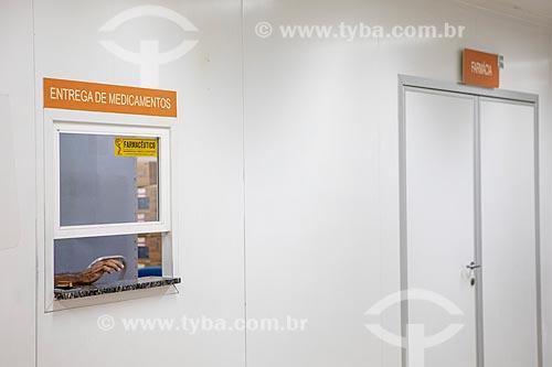 Seção de entrega de medicamentos da Unidade de Pronto Atendimento de Inoã (UPA)  - Maricá - Rio de Janeiro (RJ) - Brasil
