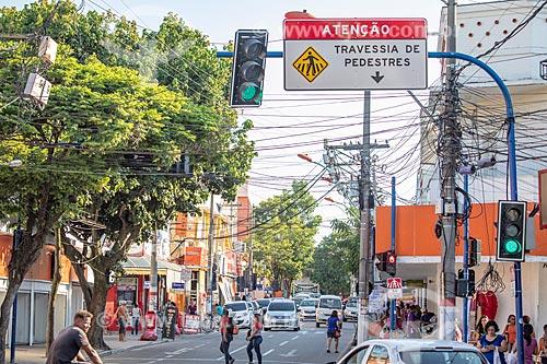 Vista da Rua Ribeiro de Almeida - também conhecida como Rua dos Bancos  - Maricá - Rio de Janeiro (RJ) - Brasil