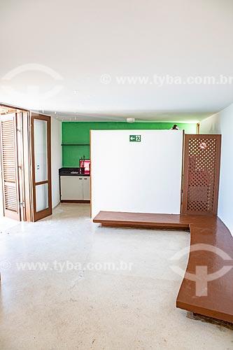 Interior da Casa Darcy Ribeiro - projetada por Oscar Niemeyer  - Maricá - Rio de Janeiro (RJ) - Brasil