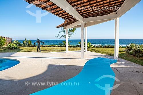 Varanda da Casa Darcy Ribeiro - projetada por Oscar Niemeyer  - Maricá - Rio de Janeiro (RJ) - Brasil