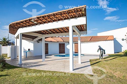 Pátio da Casa Darcy Ribeiro - projetada por Oscar Niemeyer  - Maricá - Rio de Janeiro (RJ) - Brasil
