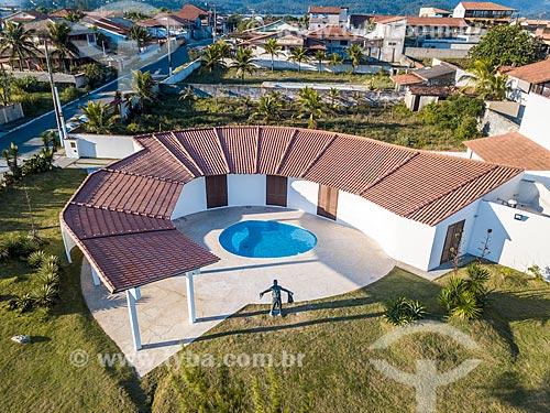 Foto feita com drone da Casa Darcy Ribeiro - projetada por Oscar Niemeyer  - Maricá - Rio de Janeiro (RJ) - Brasil