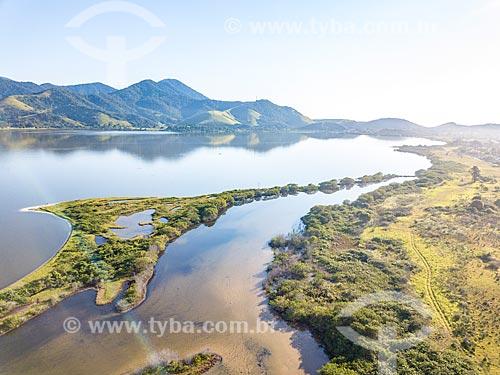 Foto feita com drone da Lagoa de Araçatiba  - Maricá - Rio de Janeiro (RJ) - Brasil