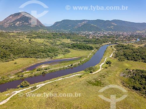 Foto feita com drone do Rio da Três Bocas  - Maricá - Rio de Janeiro (RJ) - Brasil