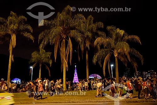 Público durante a inauguração da Árvore de Natal da Lagoa Rodrigo de Freitas  - Rio de Janeiro - Rio de Janeiro (RJ) - Brasil