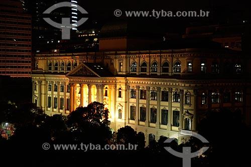 Fachada da Biblioteca Nacional (1910) à noite  - Rio de Janeiro - Rio de Janeiro (RJ) - Brasil