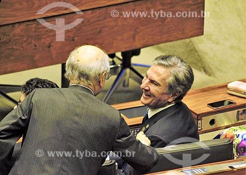 Ex-presidente Fernando Collor no plenário da Câmara dos Deputados durante a cerimônia de posse presidencial de Jair Bolsonaro  - Brasília - Distrito Federal (DF) - Brasil