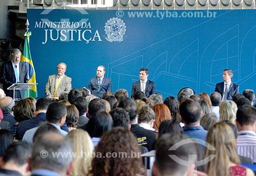 Discurso de Torquato Jardim durante a cerimônia de posse de Sérgio Moro como Ministro da Justiça  - Brasília - Distrito Federal (DF) - Brasil
