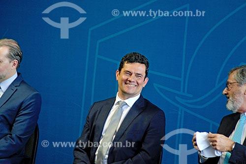 Detalhe de Sérgio Moro durante a cerimônia de posse como Ministro da Justiça  - Brasília - Distrito Federal (DF) - Brasil