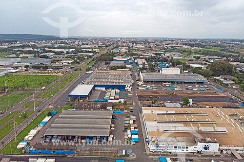 Foto feita com drone do polo industrial da cidade de Rio Claro  - Rio Claro - São Paulo (SP) - Brasil