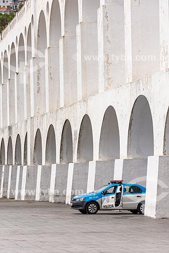 Detalhe de policiamento no Arcos da Lapa (1750)  - Rio de Janeiro - Rio de Janeiro (RJ) - Brasil