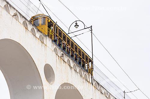 Bonde de Santa Teresa no Arcos da Lapa  - Rio de Janeiro - Rio de Janeiro (RJ) - Brasil