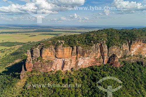 Foto feita com drone da Serra do Roncador  - Barra do Garças - Mato Grosso (MT) - Brasil