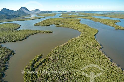 Foto aérea da Área de Proteção Ambiental de Guaratuba  - Guaratuba - Paraná (PR) - Brasil