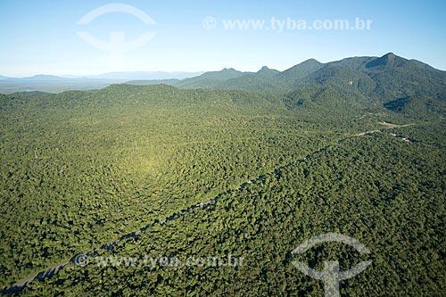 Foto aérea do Parque Nacional de Saint-Hilaire/Lange  - Guaratuba - Paraná (PR) - Brasil
