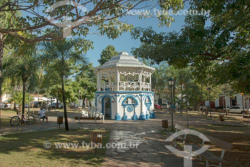 Coreto na Praça Tasso de Camargo - também conhecida como Praça do Coreto  - Goiás - Goiás (GO) - Brasil