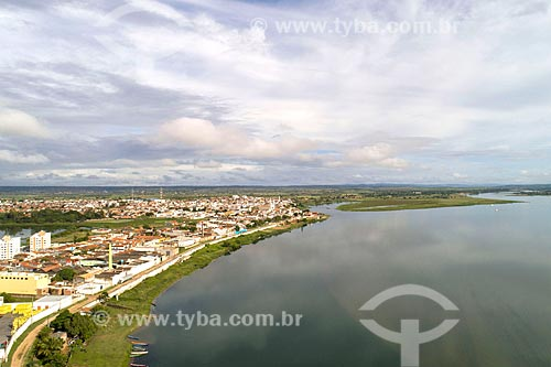 Foto feita com drone da cidade de Propriá às margens do Rio São Francisco  - Propriá - Sergipe (SE) - Brasil