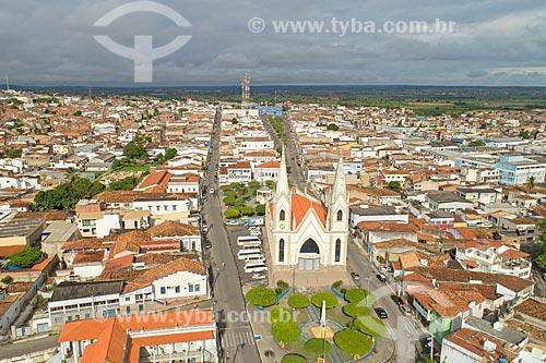 Foto feita com drone da Igreja Matriz de Santo Antônio (1718)  - Propriá - Sergipe (SE) - Brasil