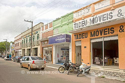 Rua comercial na cidade de Propriá  - Propriá - Sergipe (SE) - Brasil