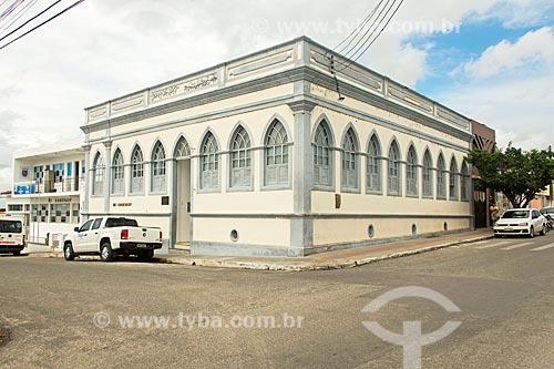 Fachada de casario na cidade de Propriá - hoje abriga a Companhia de Desenvolvimento dos Vales do São Francisco e do Parnaíba (CODEVASF)  - Propriá - Sergipe (SE) - Brasil
