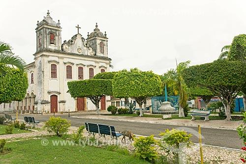 Fachada da Igreja Matriz Nossa Senhora Divina Pastora  - Divina Pastora - Sergipe (SE) - Brasil