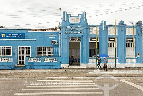Fachada da Prefeitura da cidade de Divina Pastora  - Divina Pastora - Sergipe (SE) - Brasil