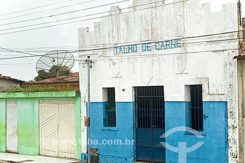 Fachada de antigo açougue  - Divina Pastora - Sergipe (SE) - Brasil