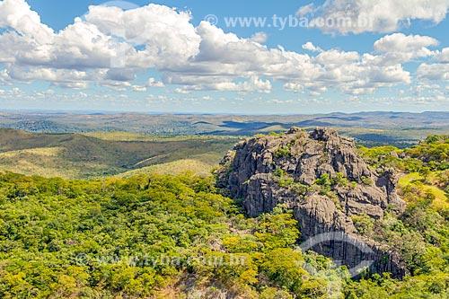 Vista do Morro da Pedreira durante a trilha na Serra do Cipó  - Santana do Riacho - Minas Gerais (MG) - Brasil
