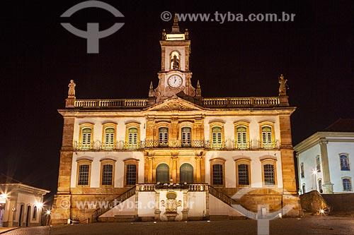 Fachada do Museu da Inconfidência (1780) à noite  - Ouro Preto - Minas Gerais (MG) - Brasil