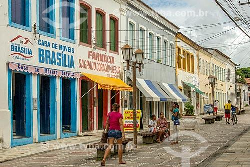 Lojas em casario na cidade de Laranjeiras  - Laranjeiras - Sergipe (SE) - Brasil