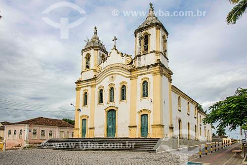 Fachada da Igreja Matriz do Sagrado Coração de Jesus (1791)  - Laranjeiras - Sergipe (SE) - Brasil