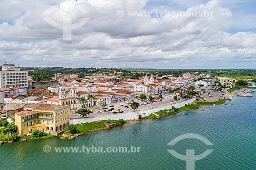 Foto feita com drone do centro histórico da cidade de Penedo  - Penedo - Alagoas (AL) - Brasil