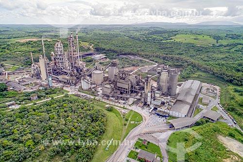 Foto feita com drone de fábrica de cimento da Votorantim S.A.  - Laranjeiras - Sergipe (SE) - Brasil