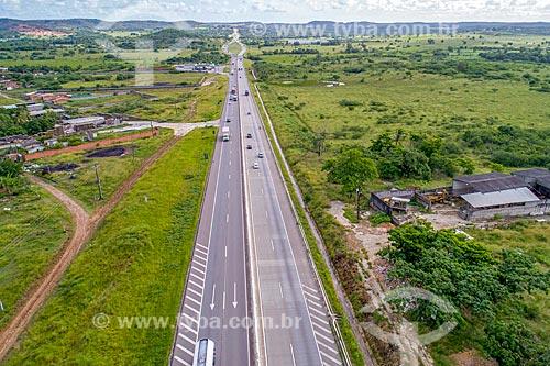 Foto feita com drone de trecho da Rodovia Governador Mário Covas (BR-101) próximo à Aracaju  - Aracaju - Sergipe (SE) - Brasil