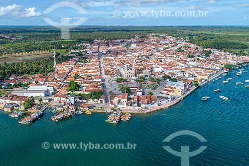 Foto feita com drone da cidade de Piaçabuçu a partir do Rio São Francisco  - Piaçabuçu - Alagoas (AL) - Brasil