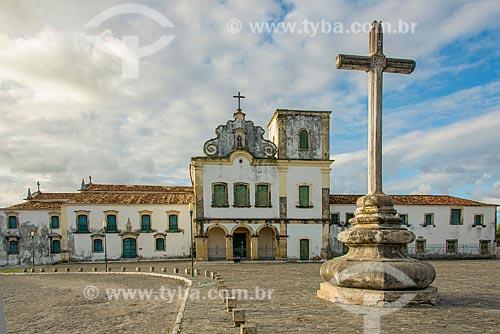 Fachada da Igreja e Convento de Santa Cruz - também conhecido como Convento de São Francisco - com o Museu de Arte Sacra de São Cristóvão à esquerda  - São Cristóvão - Sergipe (SE) - Brasil